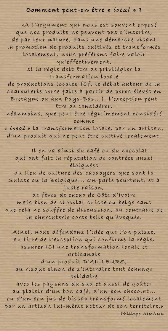 """Image du discours """"Nous sommes locaux"""" par Philippe Airaud"""