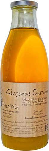 Photo de la bouteille de jus du gingembre-curcuma
