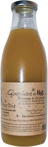Photo de la bouteille de jus du gingembre de Noël